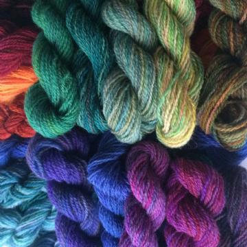 Hand Dyed Shetland 4 Ply Wool 10gms
